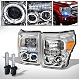 R&L Racing 10000K HID XENON+CHROME LED HALO PROJECTOR HEAD LIGHT AM DY 11-16 FORD F250/F350