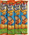 0.75oz Jovy Fruit Roll Snack, Apricot (16 Single Packets Per Order)