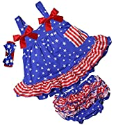 Kirei Sui Baby 2 Piece Star Red Stripes Swing Top Bloomer Set L Blue