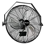 """NewAir Wall Mount Fan, 18"""" High Velocity Industrial Shop Fan with 3 Speed Settings, WindPro18W,Black"""