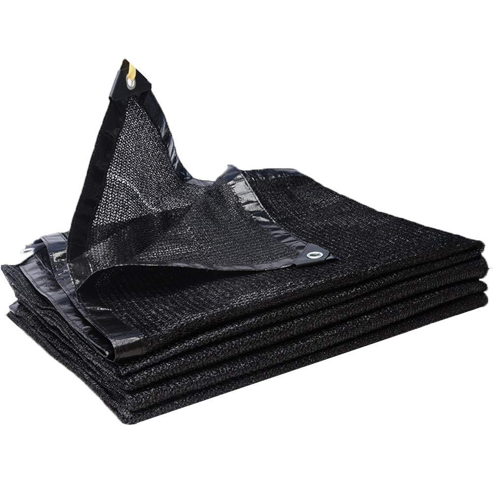 LIANGLIANG-fang shai wang Rete Parasole Serre Antivento Tetto Protezione Solare Alta Densità Metallo Rondella Polietilene, 21 Taglie (colore   Nero, Dimensioni   8x8m)