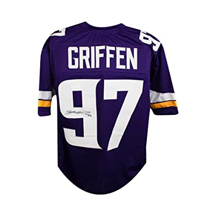 0e40c6e8a ... low cost everson griffen autographed minnesota vikings custom purple football  jersey jsa b2985 d31d6
