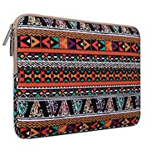 Mosiso Laptop Sleeve Case Bohemian Style Canvas Fabric 11-11.6 Inch Notebook Computer / MacBook Air 11 / Samsung Chromebook 2 / Acer Chromebook 11 , C740 Carry Bag Cover, Phoenix