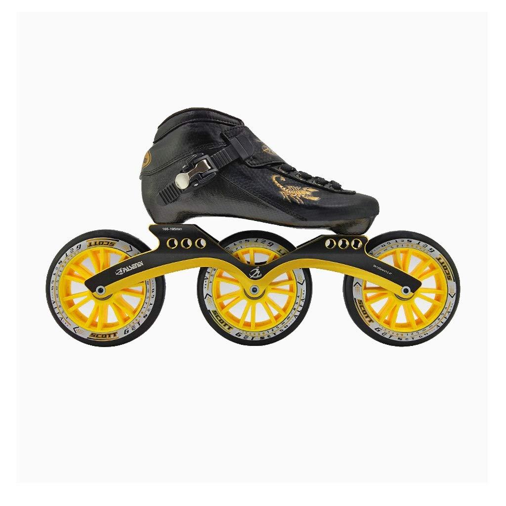 Ailj Inline Skates, Professionelles Hochelastisches PU-Rad Erwachsene Erwachsene Erwachsene Kinder 3X125MM Einreihige Schlittschuhe 5 Farben B07Q9KHCPH Inline-Skates Spezielle Funktion 154bab
