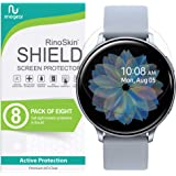 (8-Pack) RinoGear Screen Protector for Samsung Galaxy Watch Active 2 (44mm) Case Friendly Samsung Galaxy Watch Active2 (44mm)