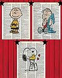 Peanuts Cartoon Wall Art Set of (3) Charlie Brown