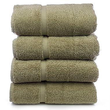 Luxury Hotel & Spa Bath Towel Turkish Cotton, Set of 4 (Driftwood)