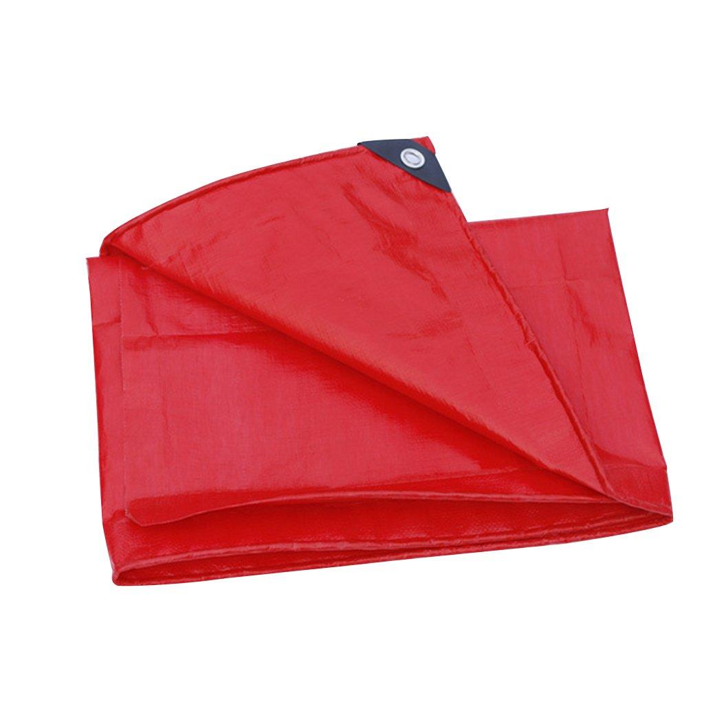MSNDIAN Panno Rosso Spessa Protezione Solare telone Impermeabile telone da Esposizione telone da Sposa Tela tettoia Articoli Sportivi all'aperto (Dimensioni   5  6m)