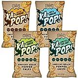 Ka-Pop! Popped Chips, Variety Pack (3.25oz, Pack of 4) - Allergen Friendly, Ancient Grains, Gluten-Free, Paleo, Non-GMO, Vegan, Healthy, Whole Grain Snacks