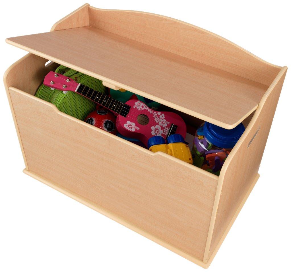 KidKraft 14953 Spielzeug-Truhe Austin aus Holz für Kinder in naturfarben - Aufbewahrungsbox Kinderzimmer Möbel