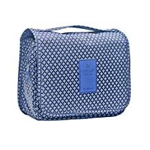 The Large Capacity Portable Travel Organizer Hanging Toiletry Bag Cosmetic Make up Bag case for Women Men Shaving Kit with Hanging Hook for vacation Waterproof Bathroom Organizer Carry On Case(Classic Navy)