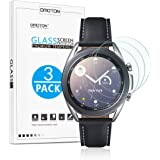 OMOTON [3 Pack] Screen Protector for Samsung Galaxy Watch 3 41mm, Galaxy Watch 42mm / Gear S2 / Gear Sport - Tempered Glass/B