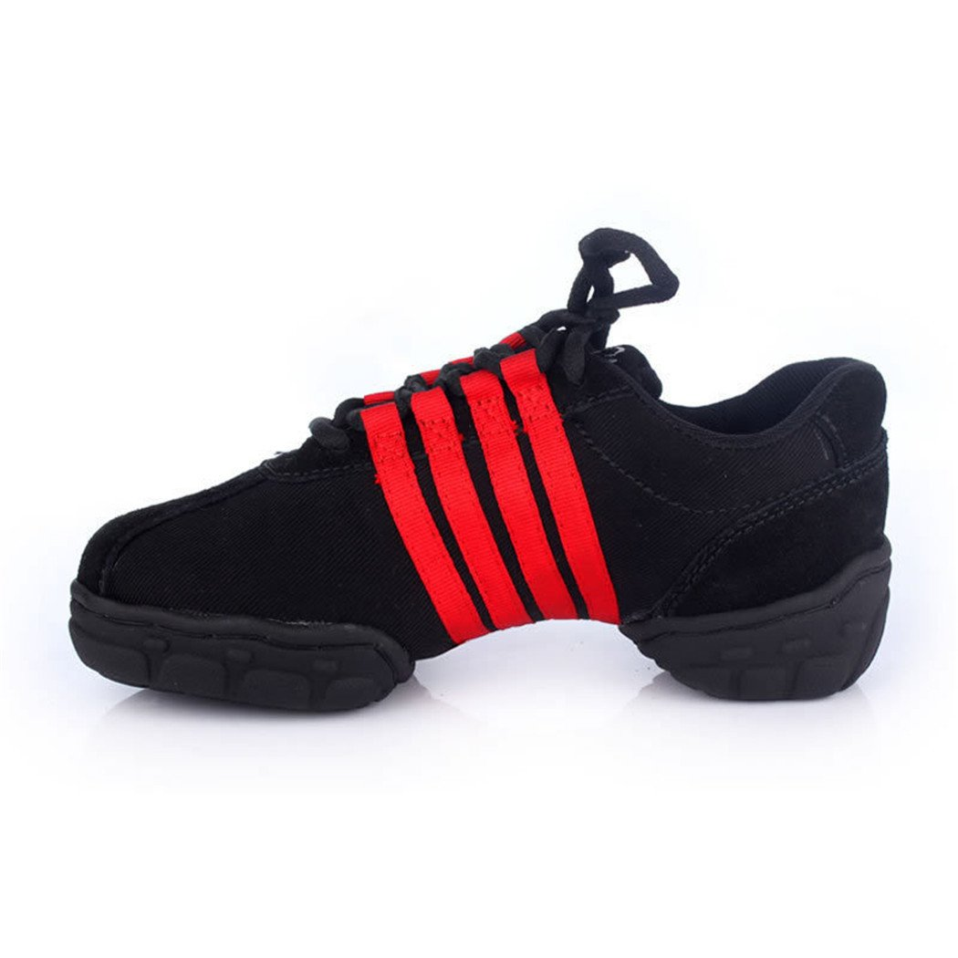 ZQ@QXFitness Komfort atmungsaktiv weichen Boden größe Dance Dance Schuhe für schwarz moderne Frauen schwarz für c3c599