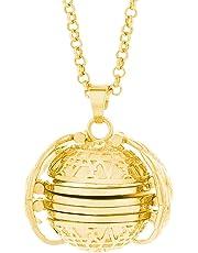 Cimaybeauty 10x Expanding Photo Locket Necklace Pendant Angel Wings Gift Jewelry Decoration