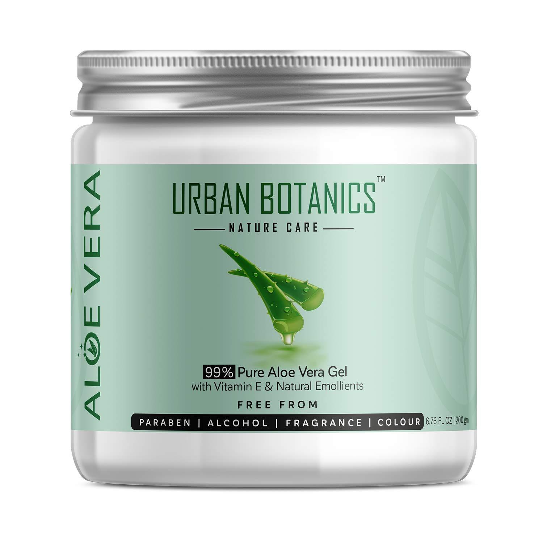 UrbanBotanics 99% Pure Aloe Vera Skin/Hair Gel (Paraben Free) 200g product image