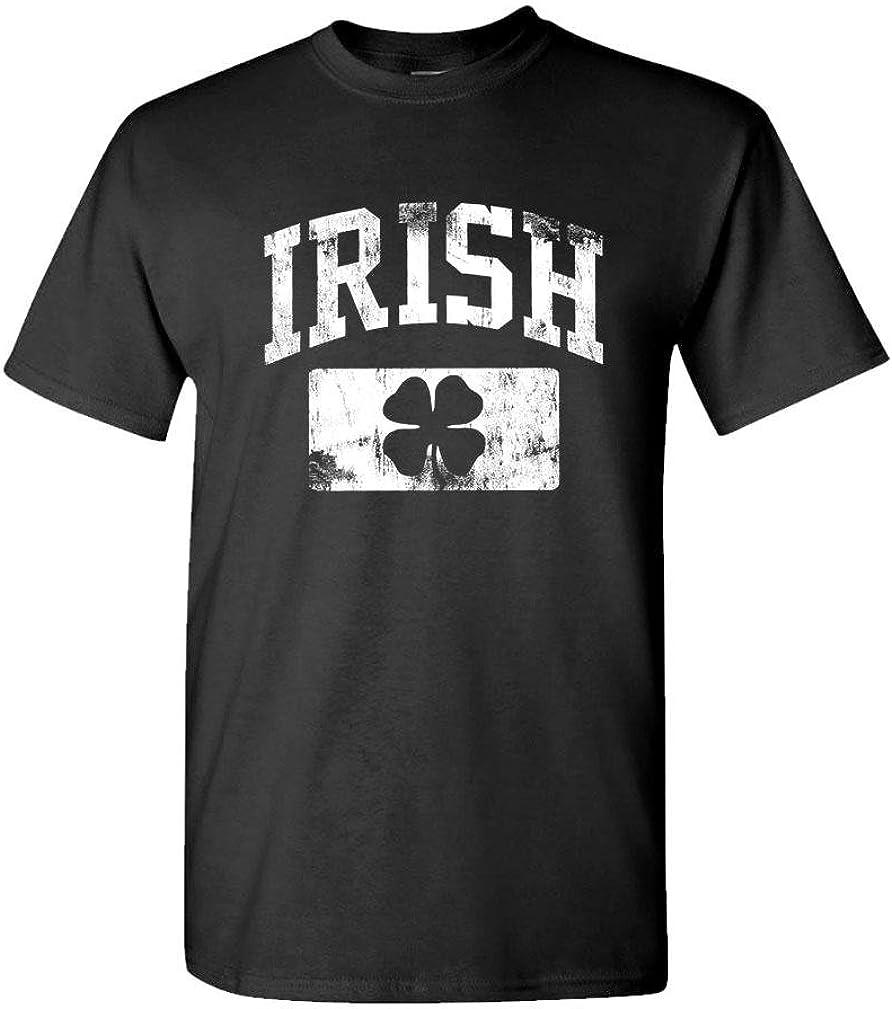 Distressed Irish st Paddys Day Shamrock - Mens Cotton T-Shirt