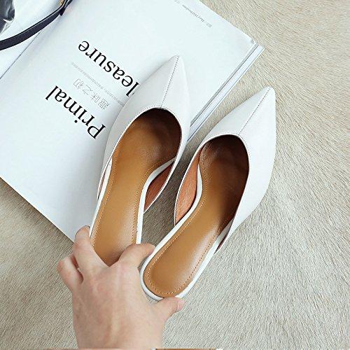 confortevole Donna e Moda luce E Da di bianca pantofole AMMENDA morbido Alla L' e Sandali AJUNR alta 39 tacco scarpe 5cm qwIz6EP6