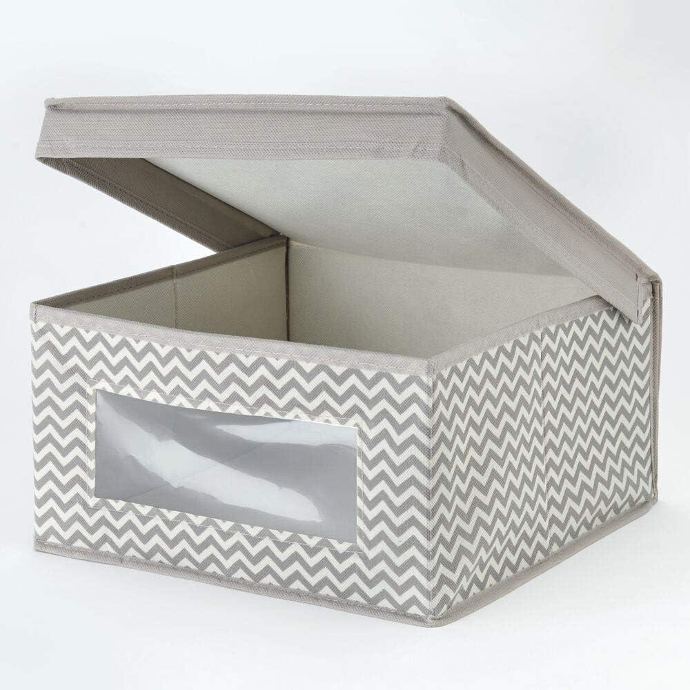 mDesign 2er-Set Baby Organizer taupe//natur Decken etc Aufbewahrungsbox f/ür Babysachen - auch zur Spielzeug Aufbewahrung geeignet