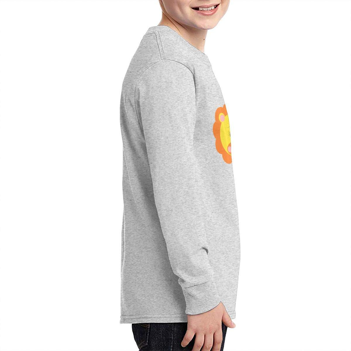RhteGui Lion Boys /& Girls Junior Vintage Long Sleeve T-Shirt Black