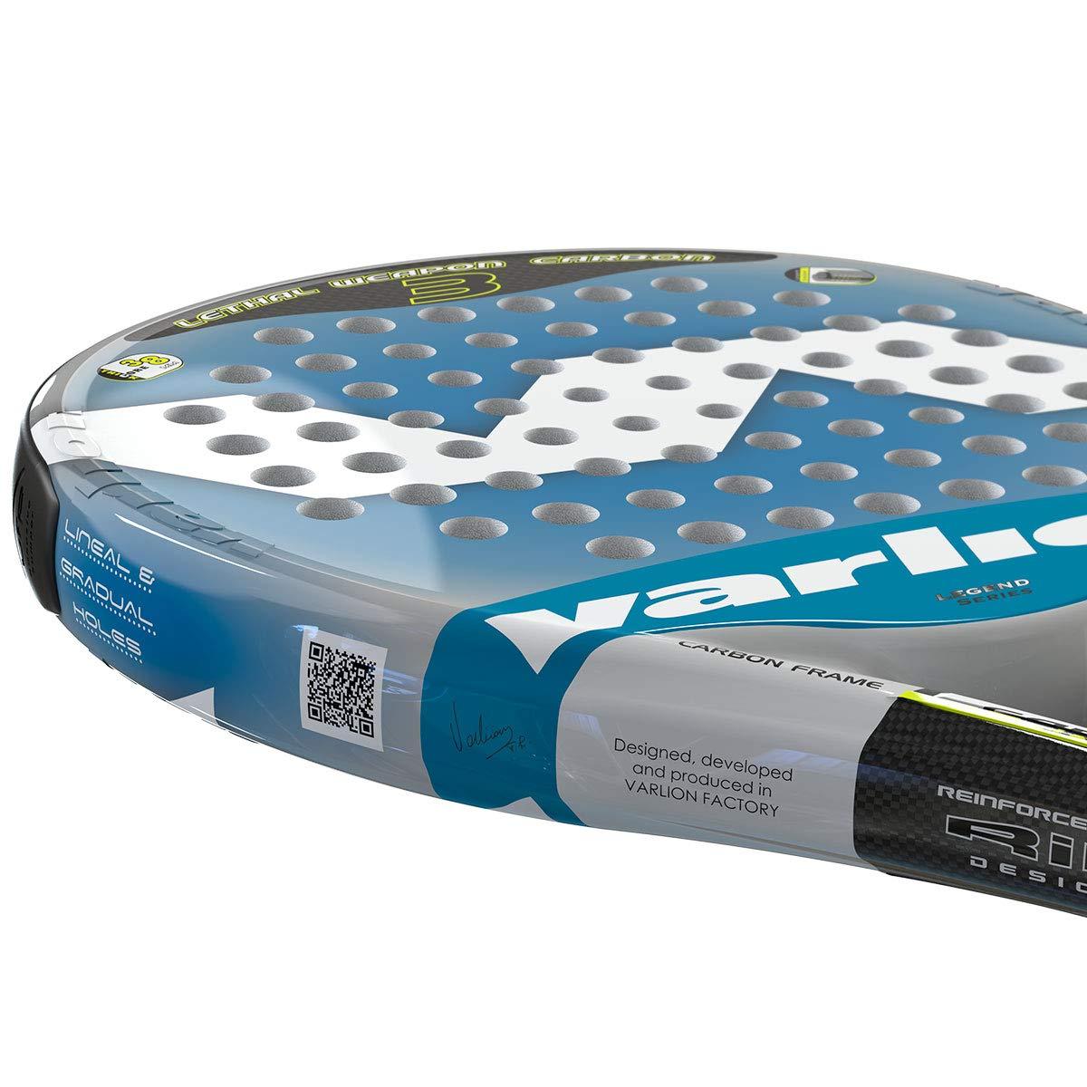 Varlion LW Carbon 3 Palas, Adultos Unisex, Azul, 355-360 gr ...