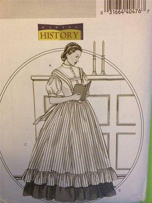 Butterick B4761 Make History - Blusa Victoriana de Guerra Civil ...