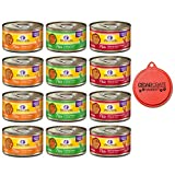 Wellness Complete Health Pate Cat Food Variety Bundle 3 Ounce - 3 Flavors (12 cans) with Can Topper