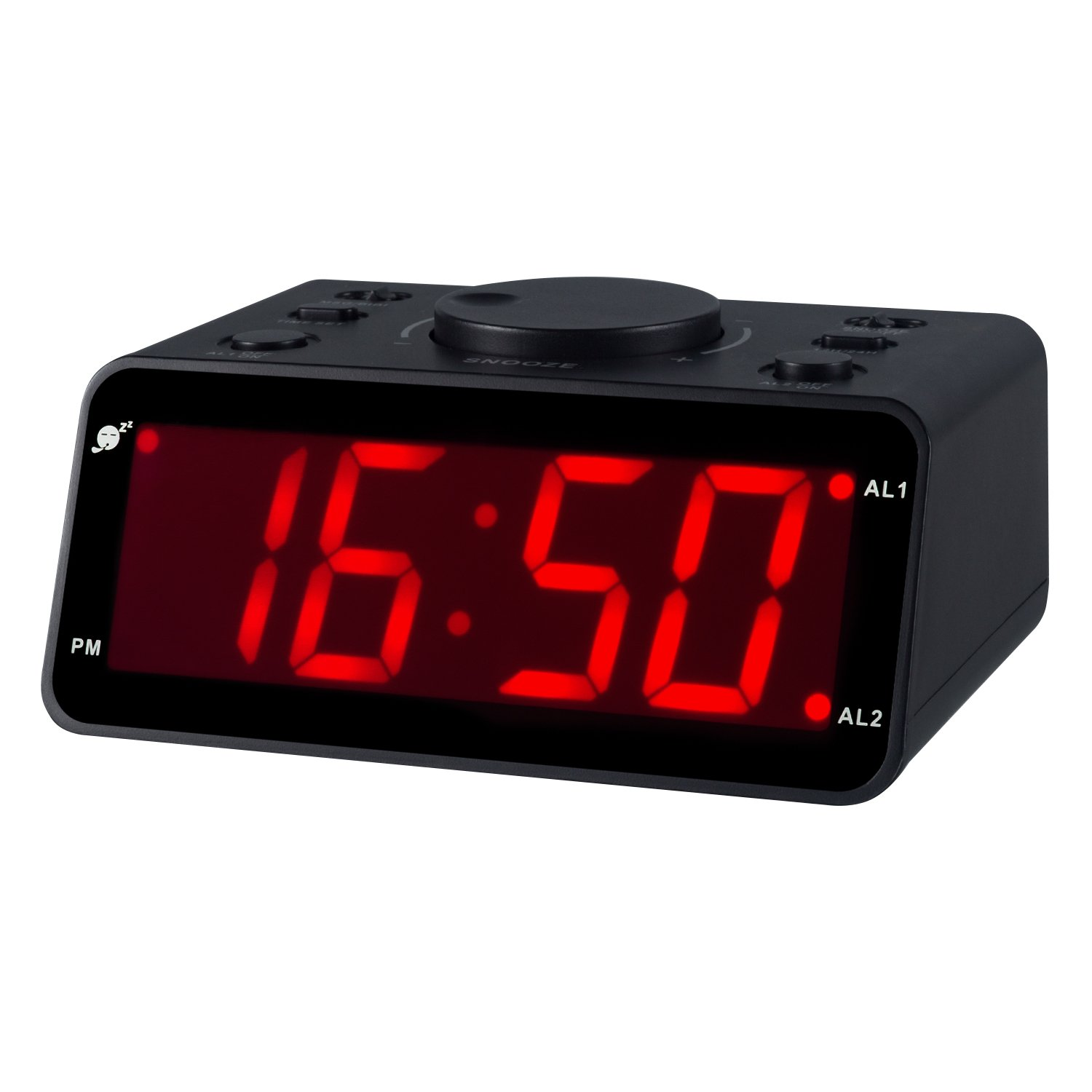 Kwanwa Battery Operated Only Cordless LED Electronic Alarm Clock with Clear Voice Recording Alarm,1.2 inch Red Numbers Display