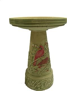 product image for Burley Clay Summer Cardinal Bird Bath Set