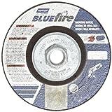 Norton Blue Fire Plus Depressed Center Abrasive Wheel, Type 27, Zirconia Alumina and Aluminum Oxide, 5/8-11 Hub, 4-1/2 Diameter x 1/4 Thickness (Pack of 10)