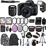 Canon EOS Rebel SL2 DSLR Camera with EF-S 18-55mm f/4-5.6 IS STM Lens + 2Pcs 32GB Sandisk SD Memory + Automatic Flash + Filter & Macro Kits + Backpack + 50 Tripod + More