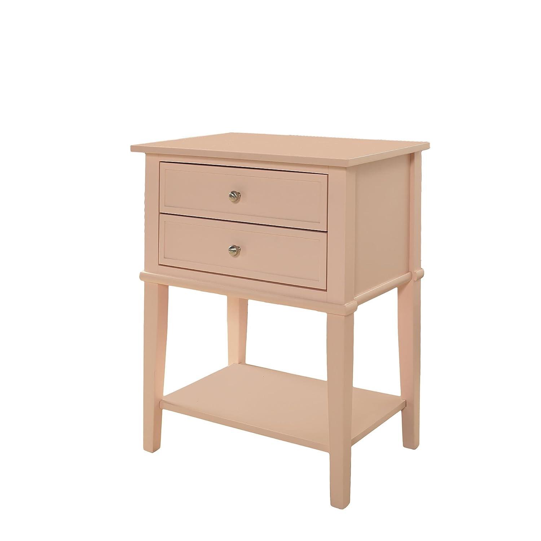 Ameriwood Home 5062796COM Franklin End Table, Pink