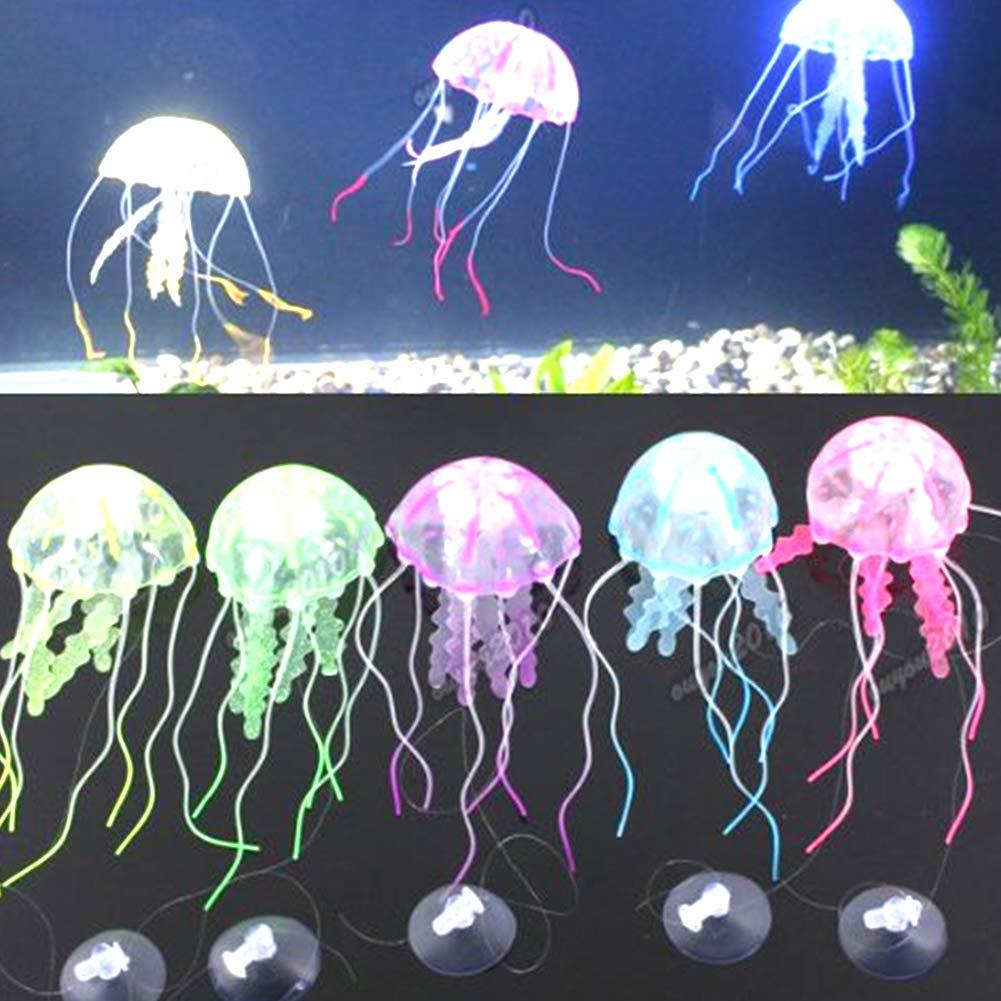 Newin Star Las Medusas 1pc Fluorescente Artificial del Ornamento por Acuario Que Flota simulados crustáceos decoración: Amazon.es: Productos para mascotas
