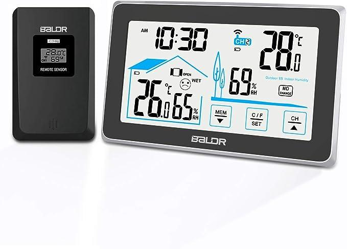 48 opinioni per BACKTURE Termometro Igrometro Digitale, Stazione Meteorologica con Wireless