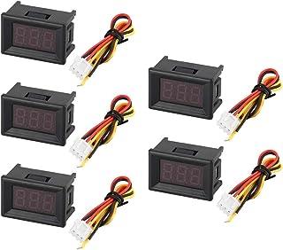 Tellaboull for Voltmetro, voltmetro, voltmetro, Volt Tester, voltmetro Digitale, voltmetro con Display a LED, voltmetro per Auto