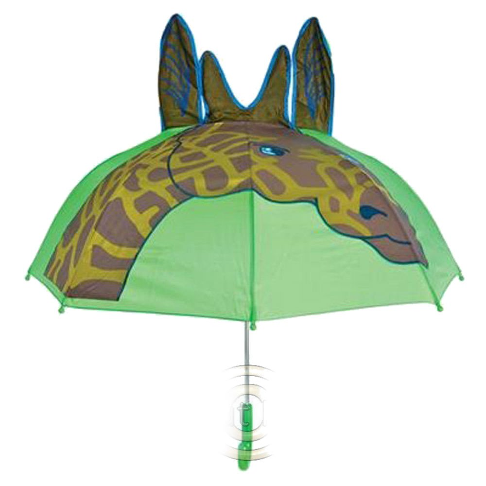 Giraffe Animal Zoo Fun Umbrella Raining Dry Head Cover Rain Wet Protect Water