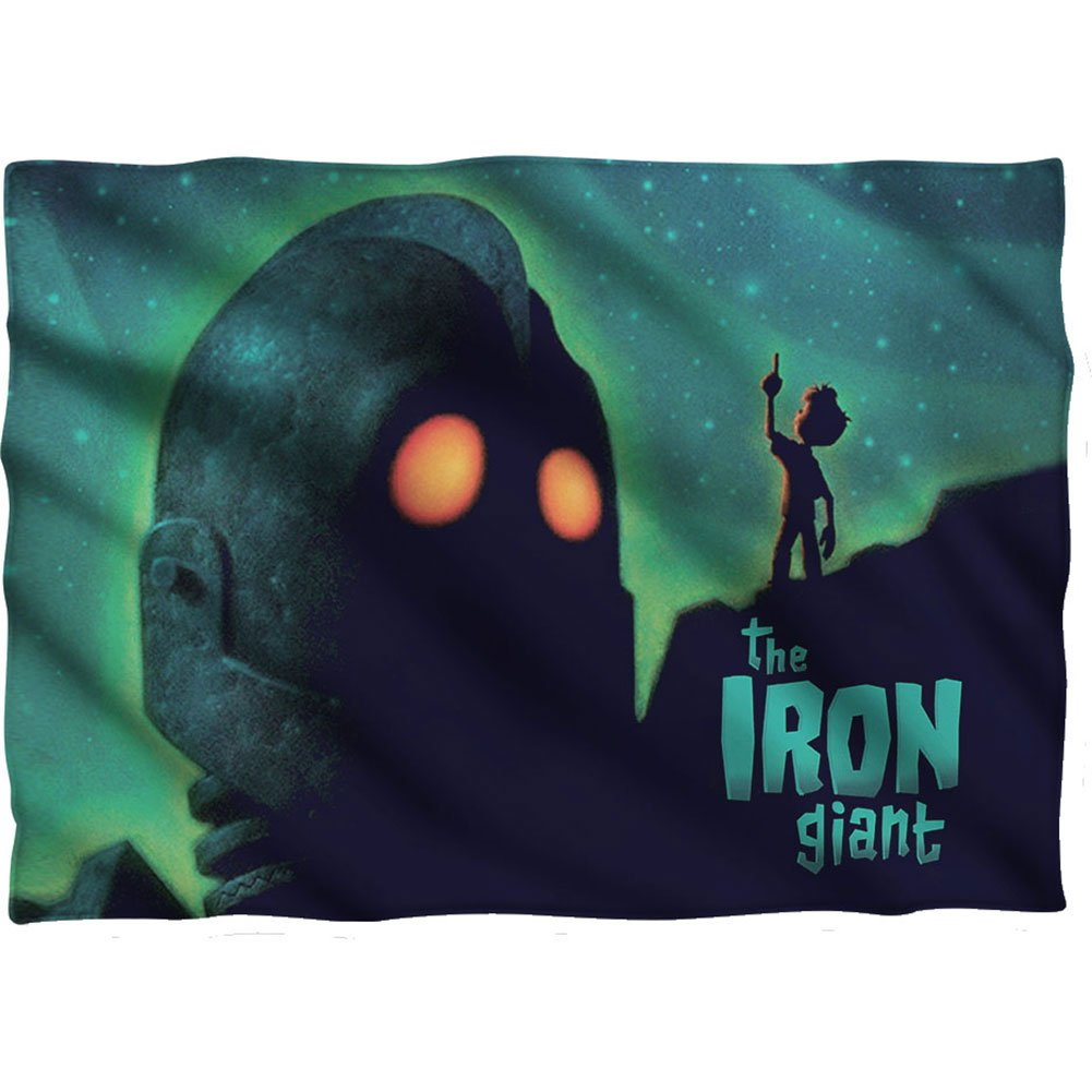 Iron Giant Animated Adventure Movie Look To The Stars Front Print Pillow Case