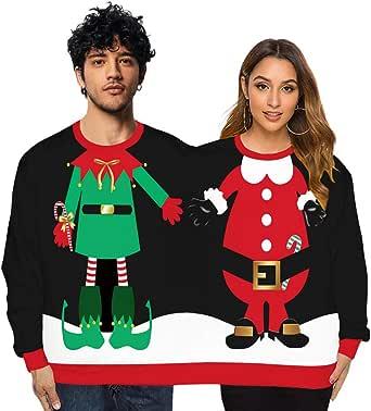 K-Youth Sr. y Sra. Pareja Sudaderas Mujer Navidad Tumblr Novedad ...