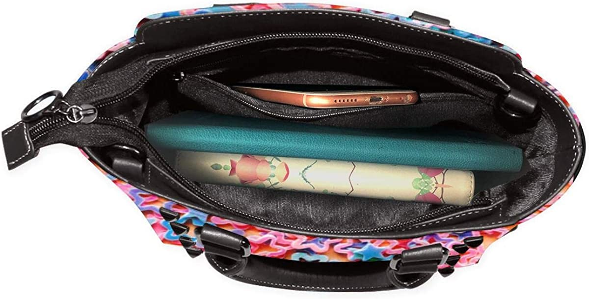 Culora Rainbow Sequins Student Female Business Leather Single Shoulder Rivet Bag.