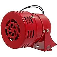 SODIAL(R) AC 220V Rouge Metal moteur Pousse Raid Aerien Sirene Corne Alarme
