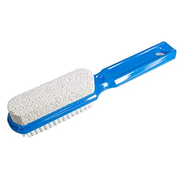 Amazon Com Two Sided Foot Scrubber With Handle Pumice Stone