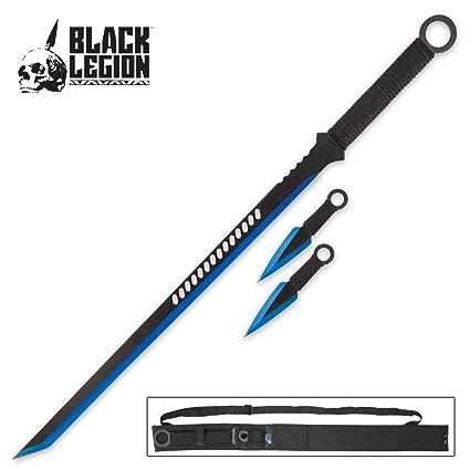Amazon.com: Negro Legión 3-Piece Azul Espada y cuchillo de ...