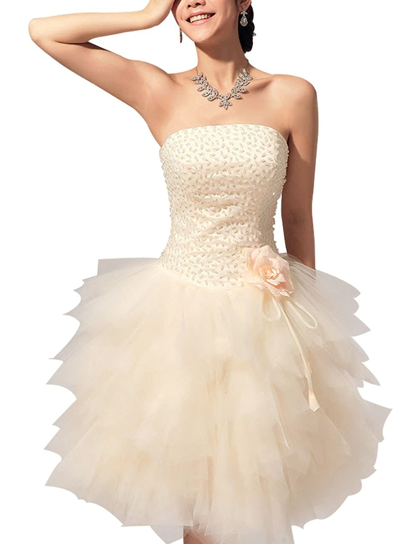 Lactraum Lf4021?Bridesmaid Dress Ball Gown Evening Dress Prom Dresses Wedding Dresses Ball Gown Champagne Colour Stripper Strapless Sequins Beads