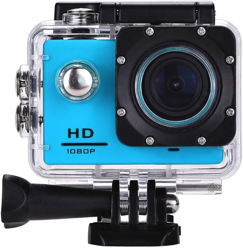 Lyhoon 1080P Cámara deportiva HD 2.0 impermeable Pantalla 30m bajo el agua 120 grados de la lente de deporte Cam DV DVR con varios accesorios para motocicleta de la bici Surf Buceo