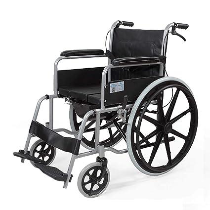 DPPAN Drive Medical Transport Silla de ruedas Plegable ligero para adultos Asiento ancho, tubo de