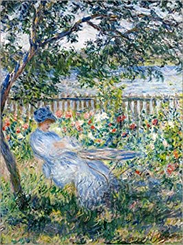 Posterlounge Lienzo 50 x 70 cm: La Terrasse (The Terrace) de Claude Monet - Cuadro Terminado, Cuadro sobre Bastidor, lámina terminada sobre Lienzo auténtico, impresión en Lienzo