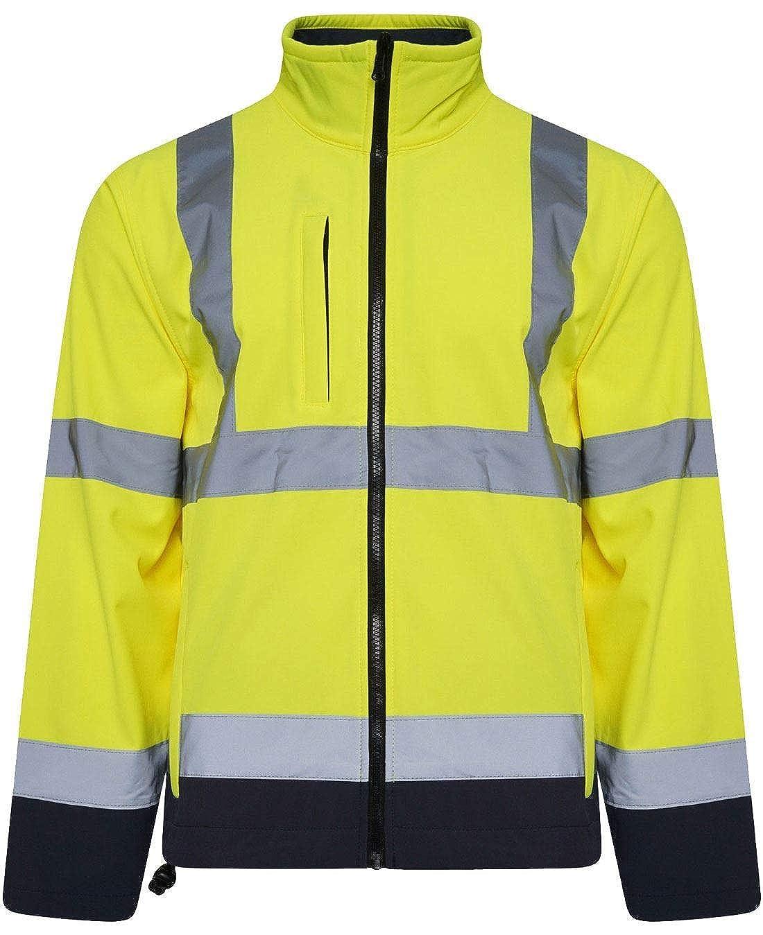 Boys Men High Visibility Long Sleeve Waterproof Coat Men Reflective Long Jacket