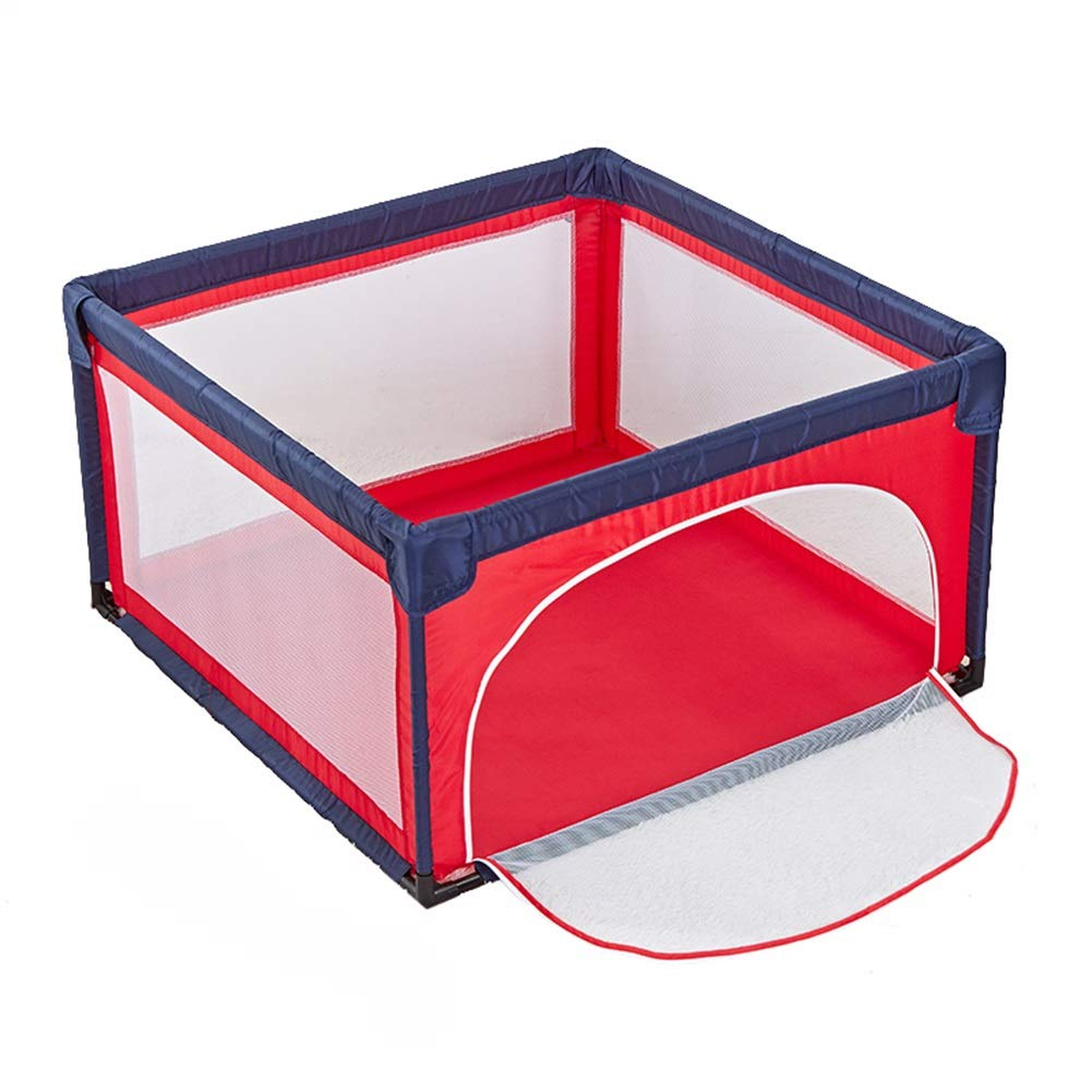 Hulan Portable Baby Play Fence Playard and Baby Game Pen, Lightweight mesh Children's Folding Oxford Cloth 4 Side Panel Activity Center Indoor and Outdoor Suitable for 6-30 Months (Color : Red) by QIANDING
