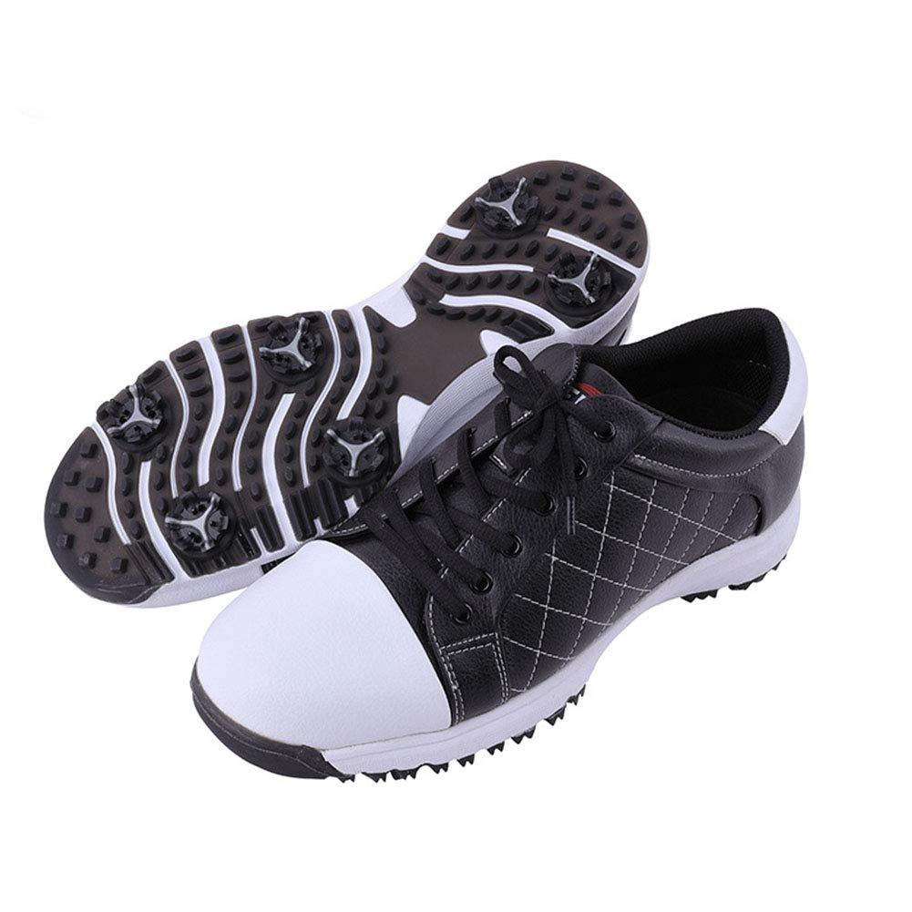 GGXFC Shoes Golf Lawn Shoes Waterproof Men (FLG008),Black,42