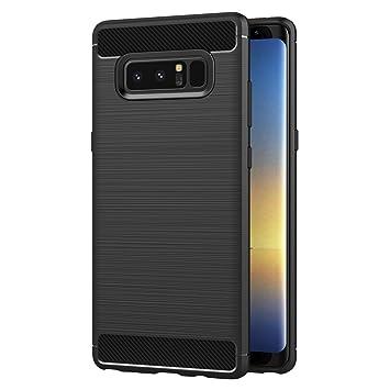 AICEK Funda Samsung Galaxy Note 8, Negro Silicona Fundas para Samsung Note 8 Carcasa Galaxy Note 8 Fibra de Carbono Funda Case (6,3