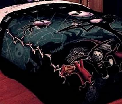 the nightmare before christmas full queen comforter reversable with jack skellington zero lock shock